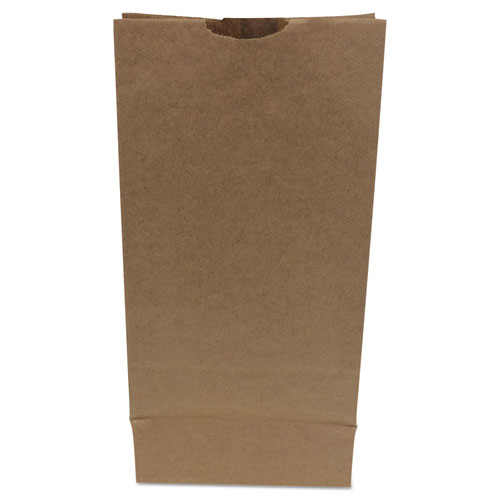 #10 Paper Grocery Bag, 50lb Kraft, Heavy-Duty 6 5/16 x4 3/16 x13 3/8, 500 bags BAGGH10500
