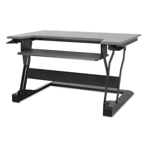 """WorkFit™ by Ergotron® WorkFit-T Sit-Stand Desktop Workstation, 35"""" x 22"""" x 20"""", White"""