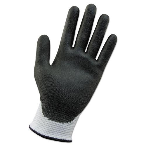 G60 ANSI Level 2 Cut-Resistant Glove, White/Blk, 240mm Length, Large/SZ 9, 12 PR