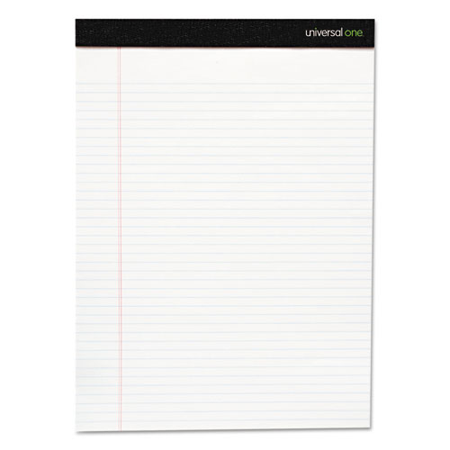 Premium Ruled Writing Pads, Wide/Legal Rule, 8.5 x 11, White, 50 Sheets, 12/Pack