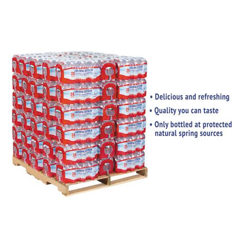 Crystal Geyser® Alpine Spring Water, 16.9 oz Bottle, 24/Case, 84 Cases/Pallet