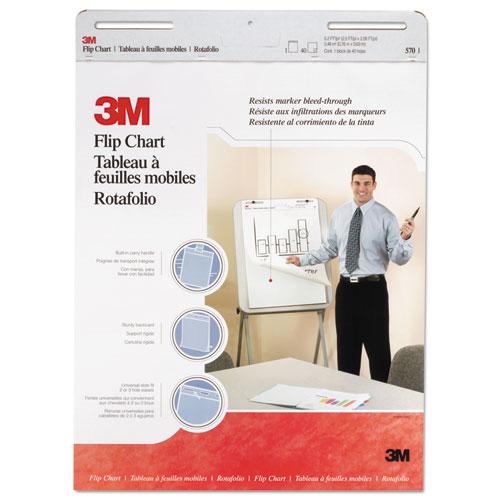 Professional Flip Chart, 25 x 30, White, 40 Sheets, 2/Carton | by Plexsupply