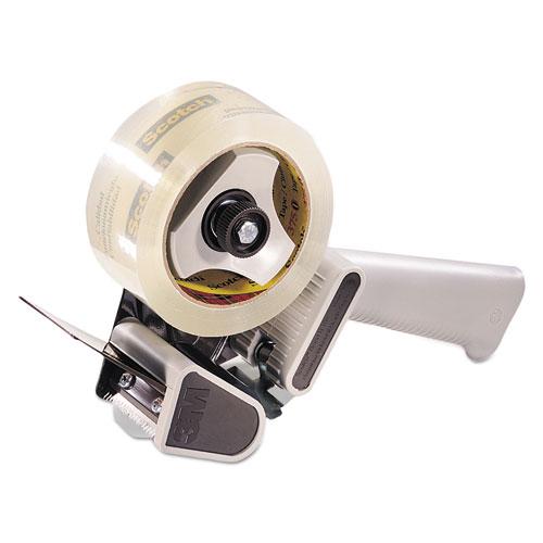 H180 Box Sealing Pistol Grip Tape Dispenser, 3 Core, Plastic/Metal, Gray
