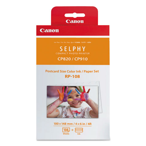 Canon® 8568B001 (RP-108) Ink/Paper Combo, 50 Page-Yield, Tri-Color