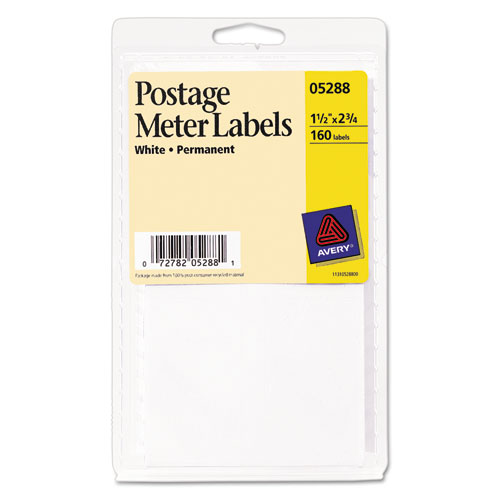 Ave05288 Avery Permanent Adhesive Postage Meter Labels Zuma
