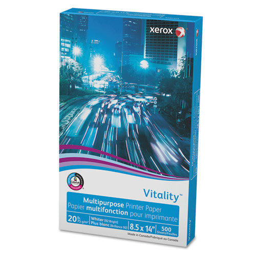 Vitality multipurpose printer paper, 8 1/2 x 14, white, 500 sheets/rm, sold as 1 ream