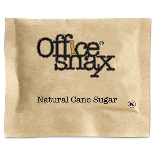 Office Snax® Natural Cane Sugar, 2000 Packets/Carton