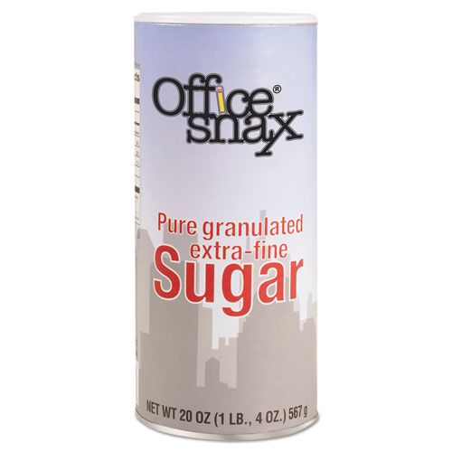 Office Snax® Reclosable Canister of Sugar, 20 oz