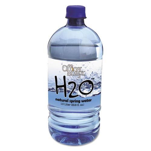 Office Snax® Bottled Spring Water, 1000mL, 12/Carton