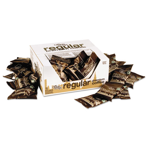 Office Snax® 100% Pure Arabica Coffee, Original Blend, 1.5oz Packet, 63/Carton