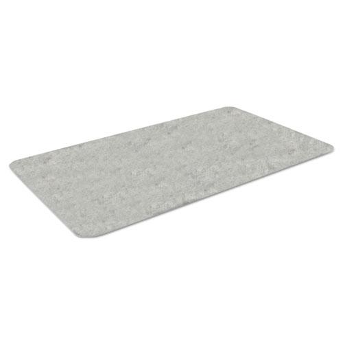 Workers-Delight Slate Standard Anti-Fatigue Mat, 36 x 144, Light Gray