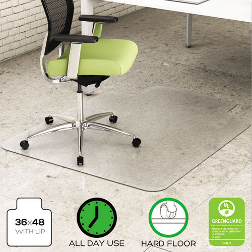 deflecto environmat recycled anytime use chair mat for hard floor