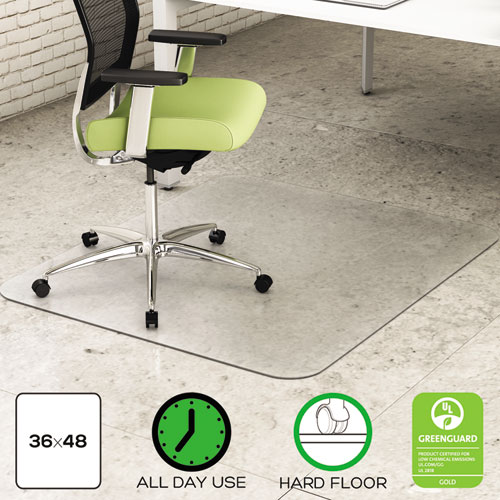 EnvironMat All Day Use Chair Mat For Hard Floors, 36 X 48, Rectangular,