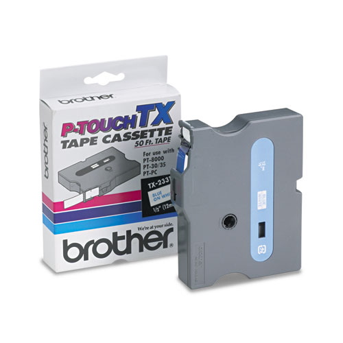 Brother® P-Touch® TX Series Standard Adhesive Laminated Labeling Tape