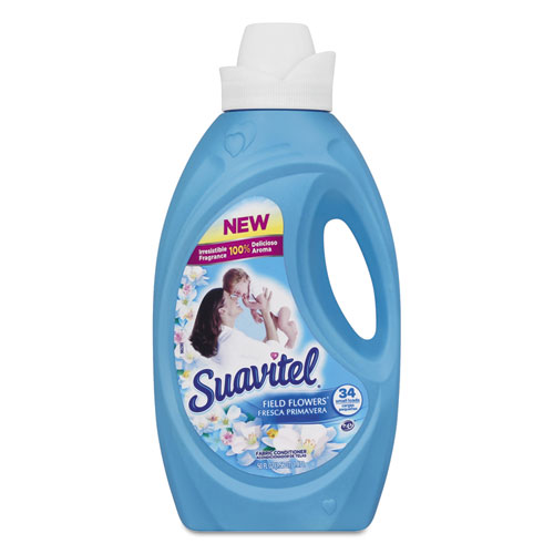 Colgate-Palmolive Suavitel Fabric Softener, Field Flowers Scent, 50 oz Bottle