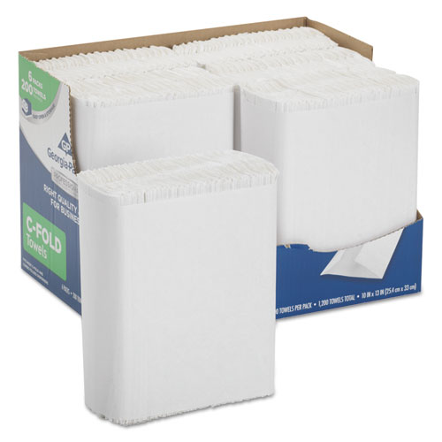 Professional Series Premium Paper Towels, C-Fold, 10 x 13, 200/Bx, 6 Bx/Carton | by Plexsupply