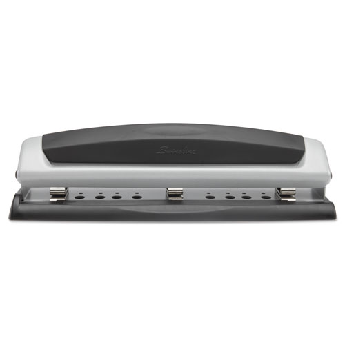 "10-Sheet Precision Pro Desktop Two-to-Three-Hole Punch, 9/32"" Holes 