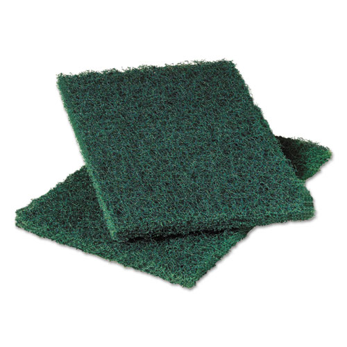 Scotch-Brite™ PROFESSIONAL Commercial Heavy-Duty Scouring Pad, Green, 6 x 9, 12/Pack