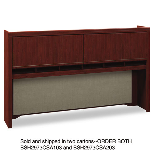 Bush® Enterprise Collection 72W Tall Hutch, Harvest Cherry (Box 1 of 2)