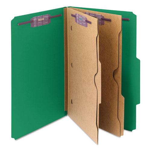 Smd19083 Smead Pressboard Folders With Two Pocket Dividers