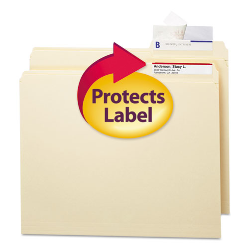 Seal  View File Folder Label Protector, Clear Laminate, 3-1/2x1-11/16, 100/Pack