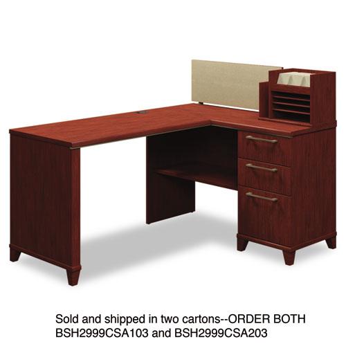Bush® Enterprise Collection 60W x 47D Corner Desk, Harvest Cherry (Box 1 of 2)