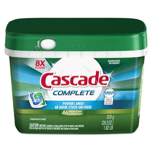 Cascade® ActionPacs, Fresh Scent, Blue, 20.3 oz Reclosable Bag, 32/Bag, 5 Bag/Carton