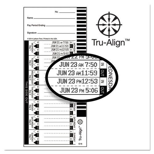Time Card for Lathem Model 1600E