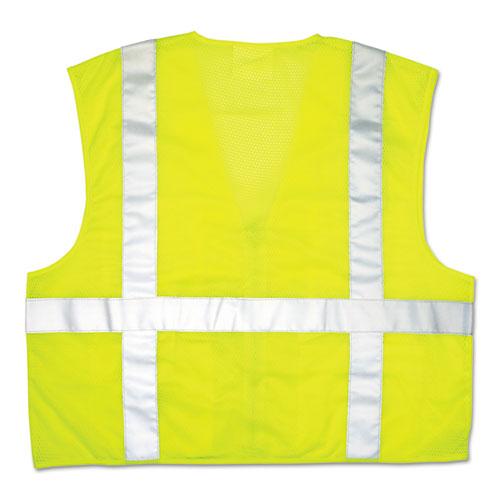 Luminator Safety Vest, Lime Green w/Stripe, Large