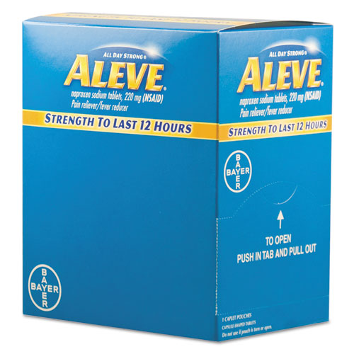 Aleve® Pain Reliever Tablets, 50 Packs/Box