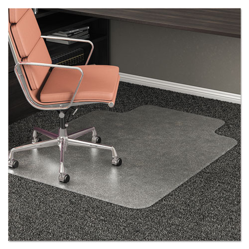 deflecto® RollaMat Frequent Use Chair Mat, Med Pile Carpet, Flat, 36 x 48, Lipped, Clear