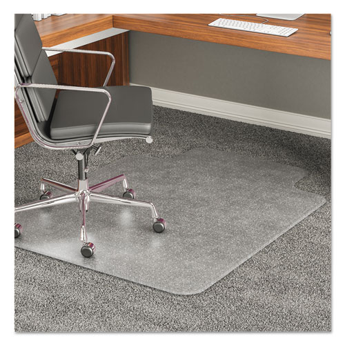 deflecto® ExecuMat All Day Use Chair Mat for High Pile Carpet, 45 x 53, Wide Lipped, Clear
