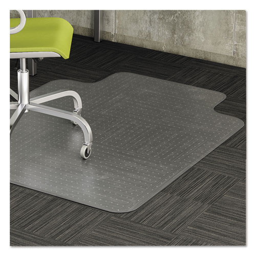 Alera® Cleated Chair Mat for Low and Medium Pile Carpet, 36 x 48, Clear