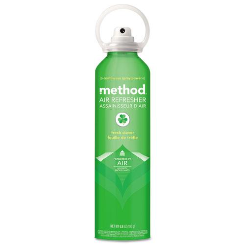 Method® Air Refresher, Fresh Clover, 6.9 oz Aerosol, 6/Carton