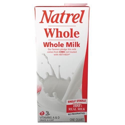 Milk, Whole, 32 oz Resealable Tetra Bottle, 12/Carton