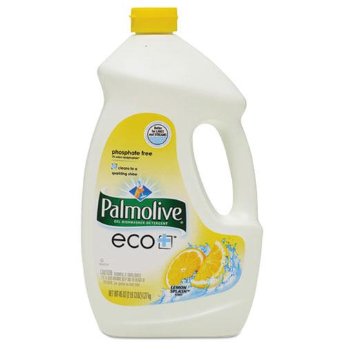 Automatic Dishwasher Gel, Lemon, 45 oz Bottle, 9/Carton
