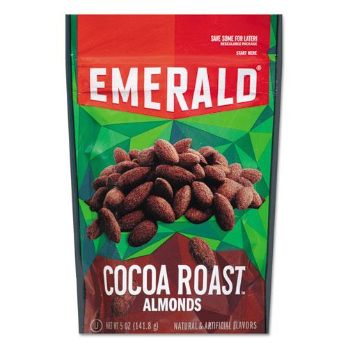 Cocoa Roasted Almonds, 5 oz Pack, 6/Carton