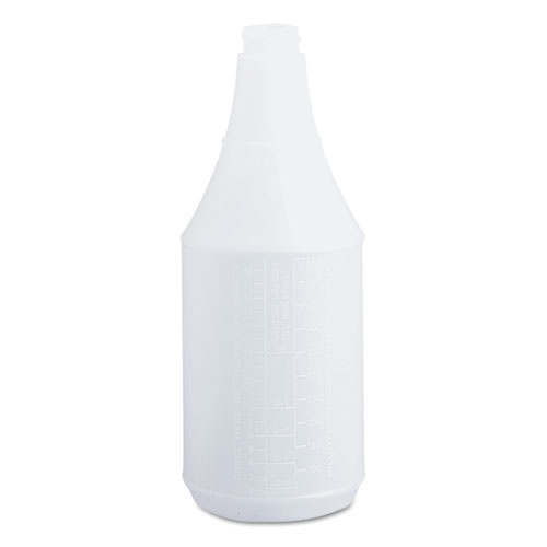 Embossed Spray Bottle, 24 oz, Clear, 24/Carton