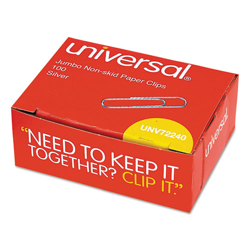 Unv72240 Universal 174 Nonskid Paper Clips Zuma