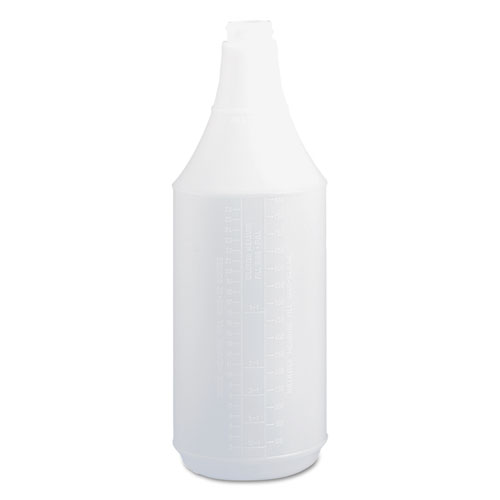 Embossed Spray Bottle, 32 oz, Clear, 24/Carton
