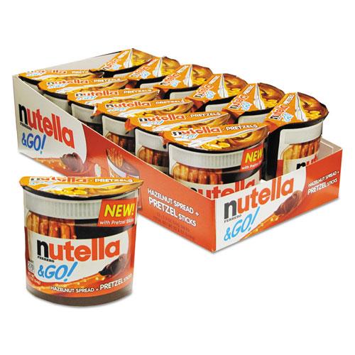 Nutella® Hazelnut Spread and Pretzel Sticks, 2.32 oz Pack, 12/Box