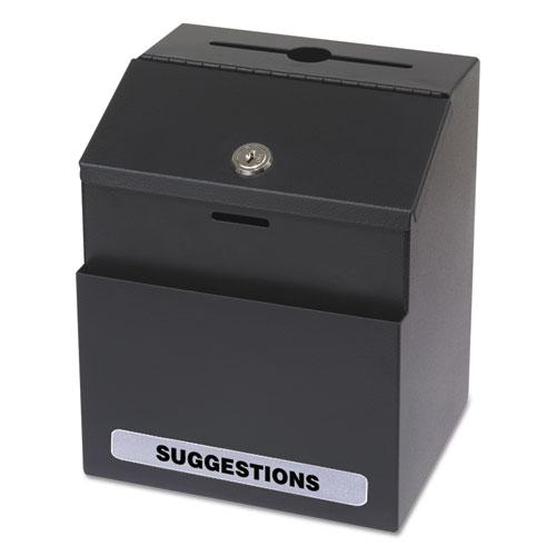 Steel Suggestion Key Drop Box With Locking Top 7 X 6 8 1 2