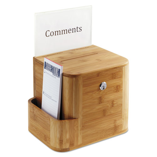 Bamboo Suggestion Box, 10 x 8 x 14, Natural