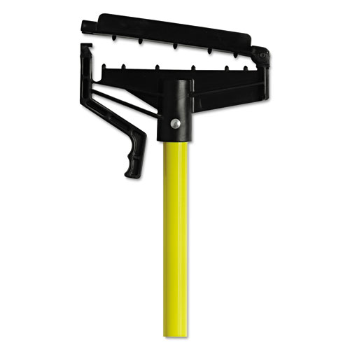 Quick-Change Mop Handle, 60, Fiberglass, Yellow