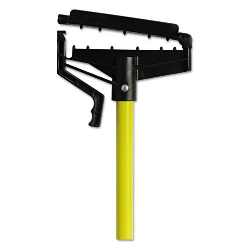 "Quick-Change Mop Handle, 60"", Fiberglass, Yellow"