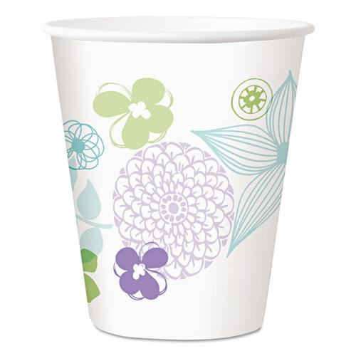 Longwood Gardens Paper Cold Cups, 12 oz, Floral, 300/Carton 827287