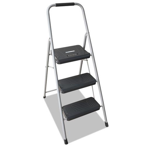 Louisville® Black and Decker Steel Step Stool, 2-Step, 200 lb Capacity, Gray