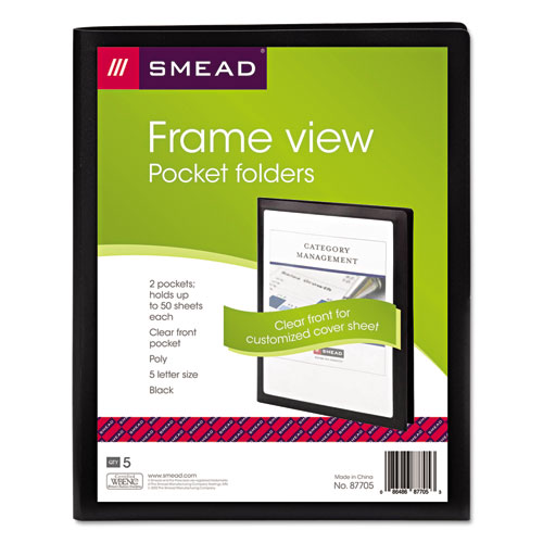 Smd87705 Smead Frame View Poly Two Pocket Folder Zuma