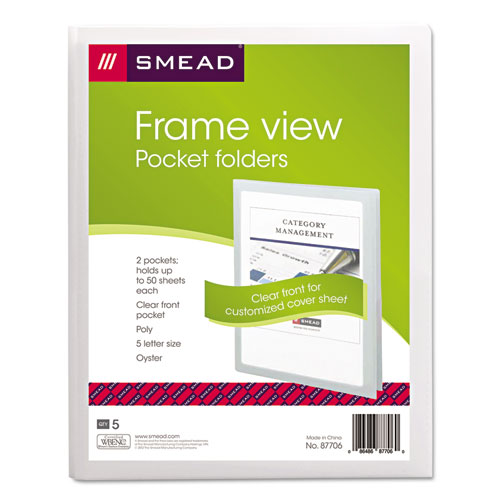Smd87706 Smead Frame View Poly Two Pocket Folder Zuma
