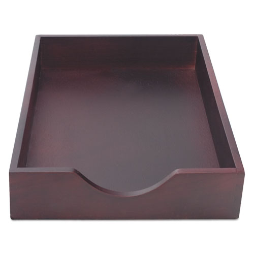 Hardwood Stackable Desk Trays, 1 Section, Legal Size Files, 10.25 x 15.25 x 2.5, Mahogany